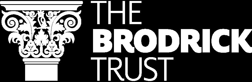Brodrick Trust logo white